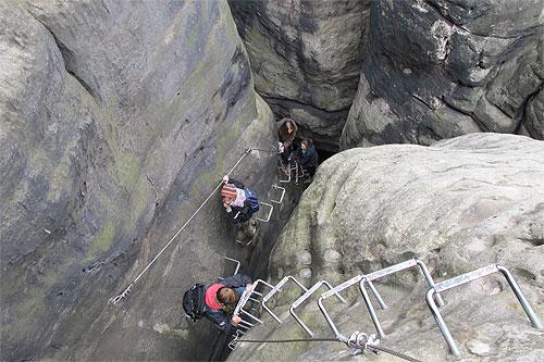 Klettersteig Sächsische Schweiz : Klettern mit der kletterschule lilienstein ihre bergschule im